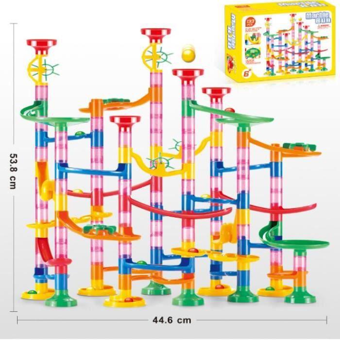 Jeu de Construction-133Pcs Circuit de Billes Solide & Stable pour Enfant-Jouets éducatifs Anniversaire Cadeaux Fille Garçon 6 Ans +