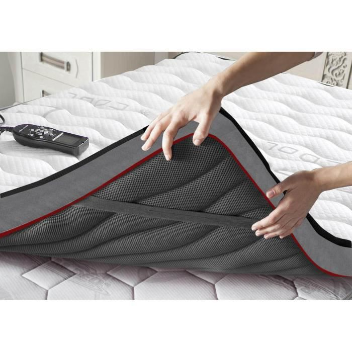 Topper-Surmatelas avec massage pour un sommeil agréable- dim : 140x190 cm