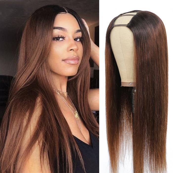 Perruques u-part brésiliennes Remy lisses brun ombré blondes T1B-30 cheveux naturels-12-