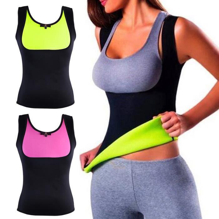 ISASSY Femme Minceur Vest pour Yoga Sport Débardeur Minceur Vêtements de Sudation