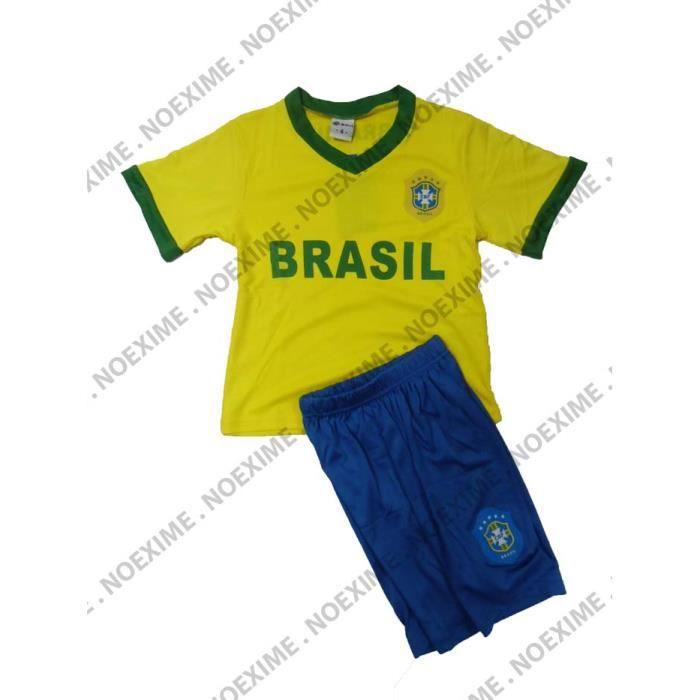maillot + short brésil NEYMAR 12 ans foot