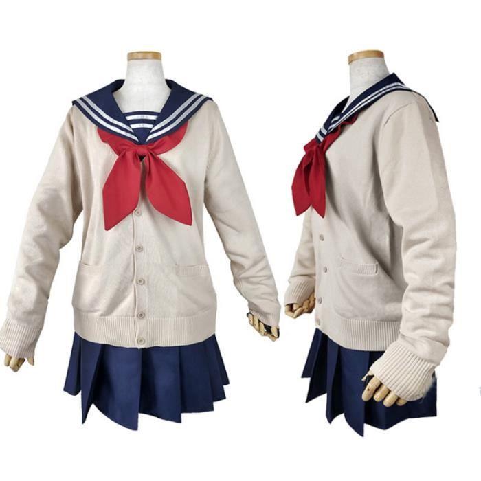 Déguisement Combinaison 4 pcs Amine My Hero Academia Himiko Toga Adulte Cosplay Costume