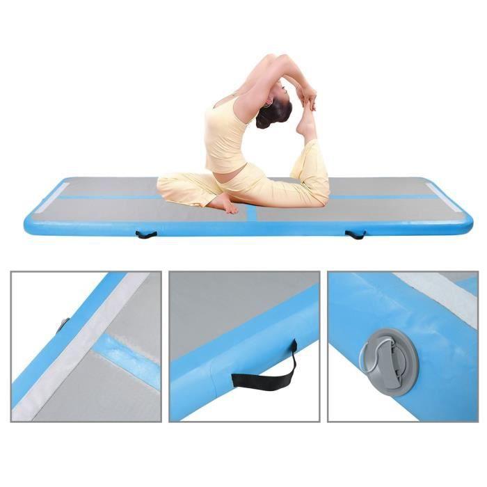 0.9x3m Mats Tapis de Gymnastique Gonflable pour Tumbling pour la Gymnastique, Yoga, l'entraînemen à la Maison