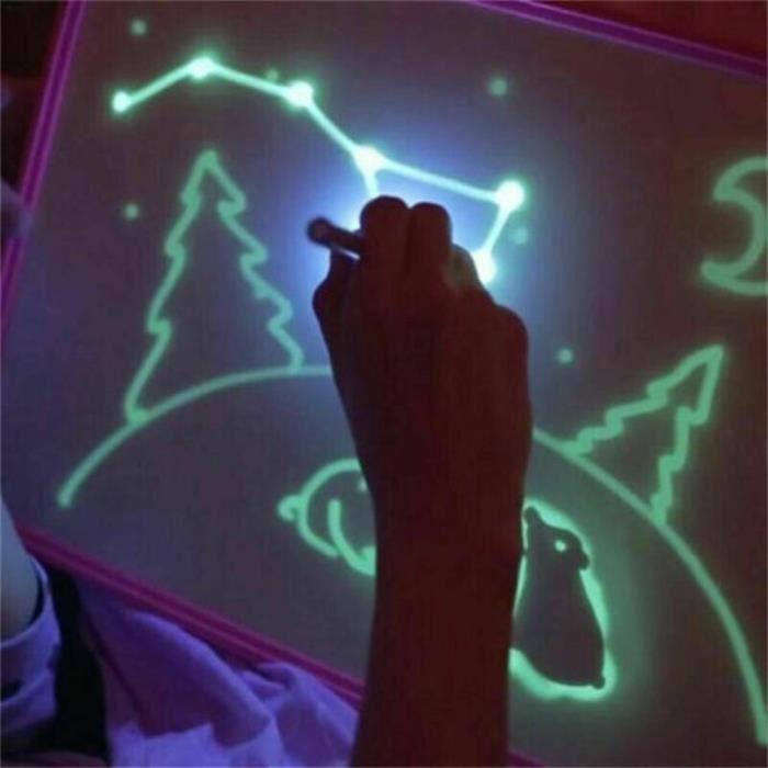 Planche à dessin 3D fluorescente - Planche à dessin fluorescente Graffiti pour enfants