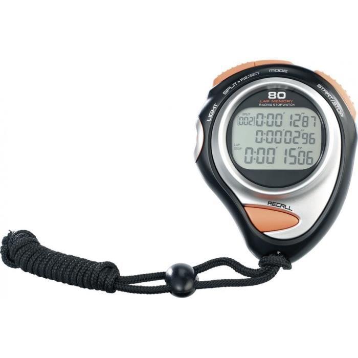 Chronomètre sport - modèle premium avec écran 3 lignes