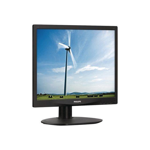 PHILIPS Écran LED S-line 17S4LSB - 17- - 1280 x 1024 - 250 cd/m² - 1000:1 - 5 ms - DVI-D, VGA - noir texturé avec socle noir