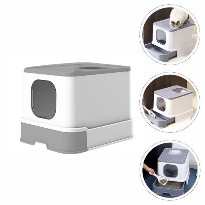 Boîte de litière de chat de compagnie 1PC pour litiere minerale - litiere silice - litiere argile hygiene litiere dejections