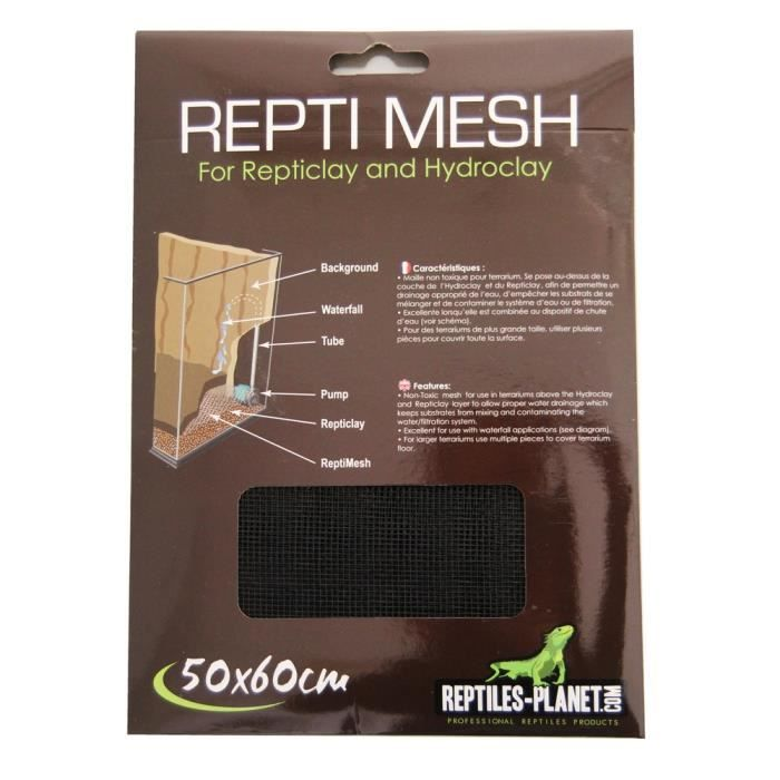 Repti Mesh pour Reptile-Amphibien 50 x 60 cm REPTILES-PLANET