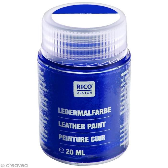 Peinture cuir - 20 ml Bleu