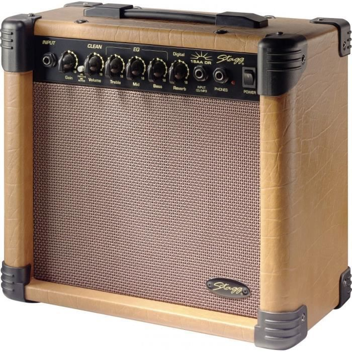 STAGG Ampli Guitare Acoustique 15W RMS