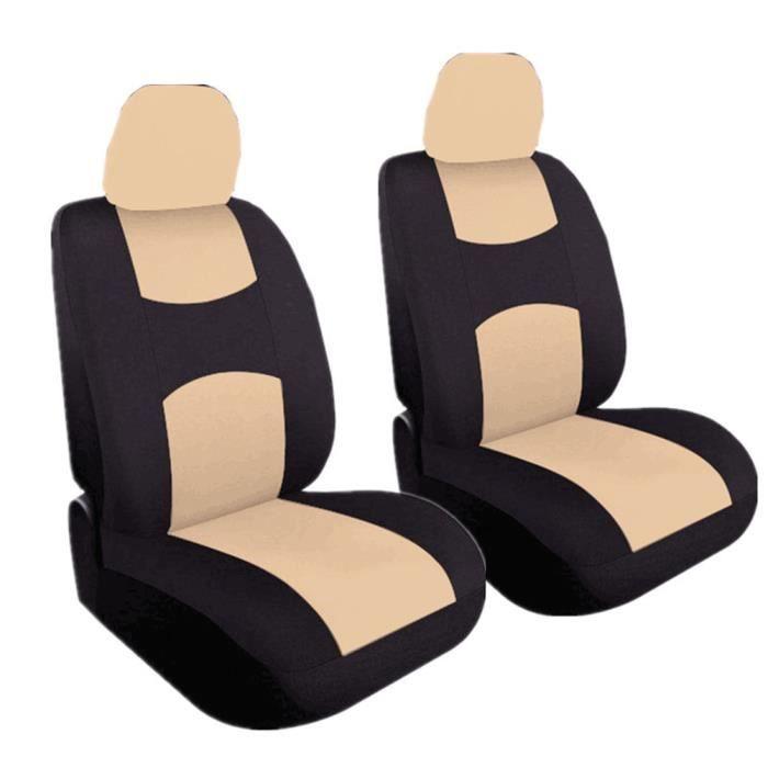 Housse de Siège Auto Universelle coussins pour Siège Voiture,auto Protecteur de siège, Couvre Siège voiture - Beige22