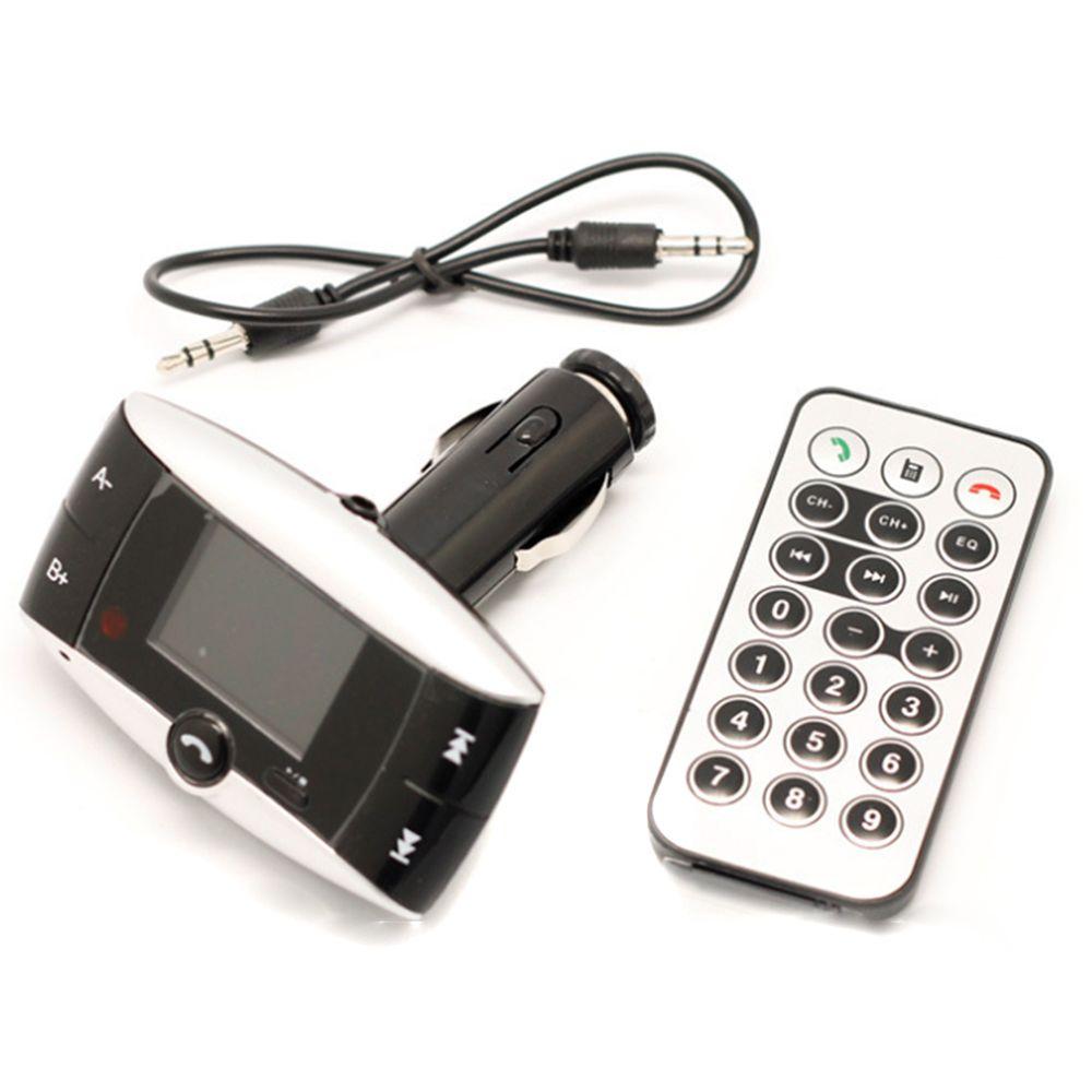TD® Transmetteur FM lecteur Mains Libres pour Voiture MP3 Modulateur transmetteur FM Version Bluetooth usb avec télécommande écran l