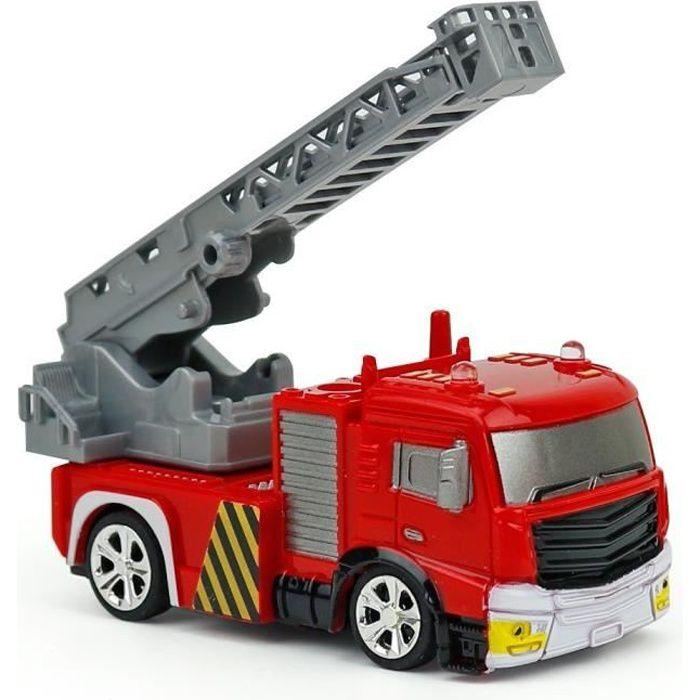 Voiture de Pompier Télécommande 4 Canaux Echelle 1:58 Jouet Enfant Cadeau Idéal pour Garçon Fille à Partir de 8 Ans@M247