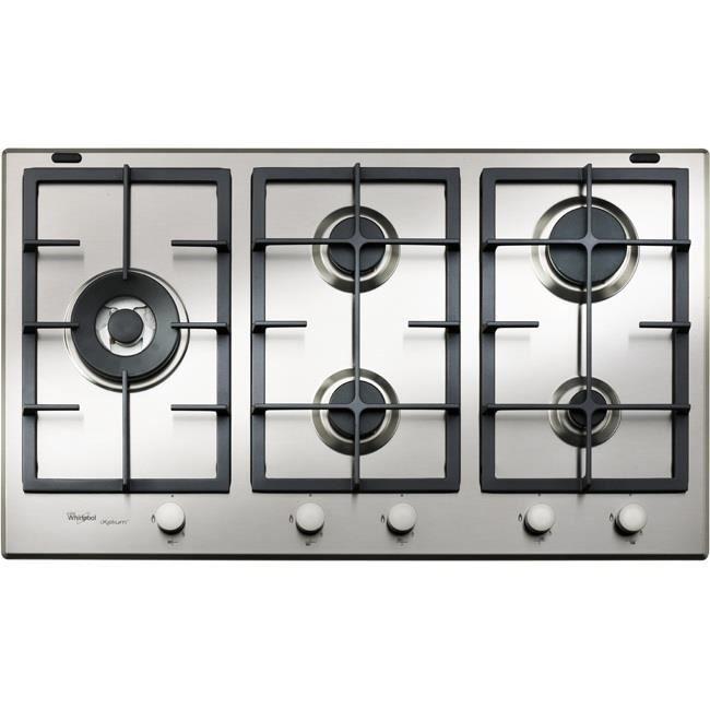 Whirlpool GMA 9522-IXL, Intégré, Cuisinière à gaz, Acier inoxydable, Acier inoxydable, Fonte, 4000 W