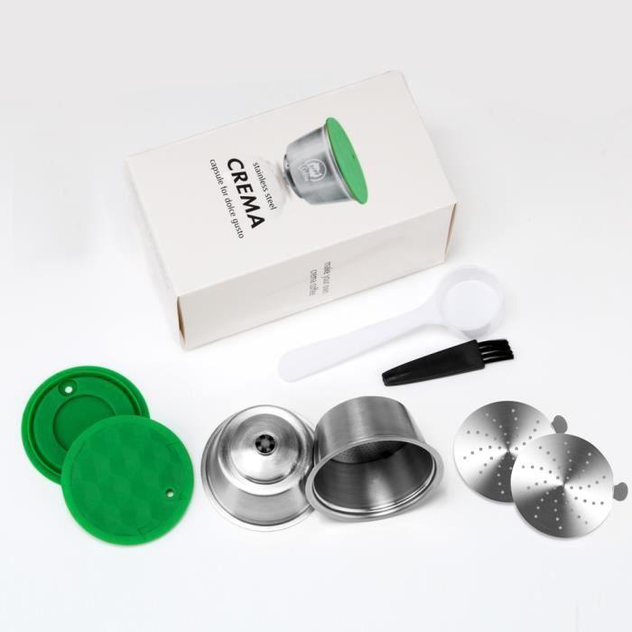 2 x Rechargeable Réutilisable Compatible café Capsules Dosettes pour Dolce Gusto machines