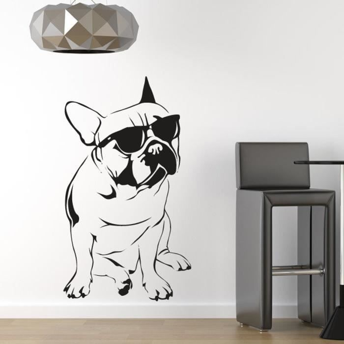 noir chien stickers muraux pour chambre d 39 enfant d coration la maison chambre coucher salon. Black Bedroom Furniture Sets. Home Design Ideas