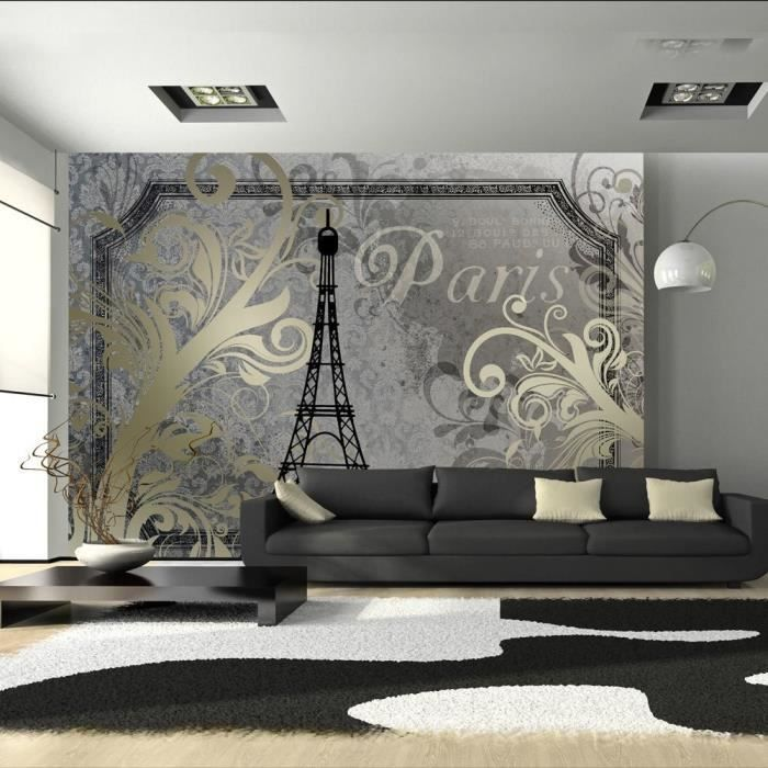 papier peint intiss design paris 300x210 cm achat vente papier peint papier peint intiss. Black Bedroom Furniture Sets. Home Design Ideas