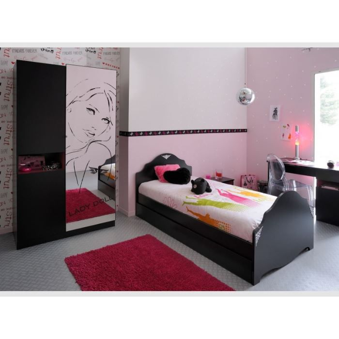 Chambre coucher 3 pi ces lady doll achat vente lit complet chambre co - Chambre a coucher cdiscount ...