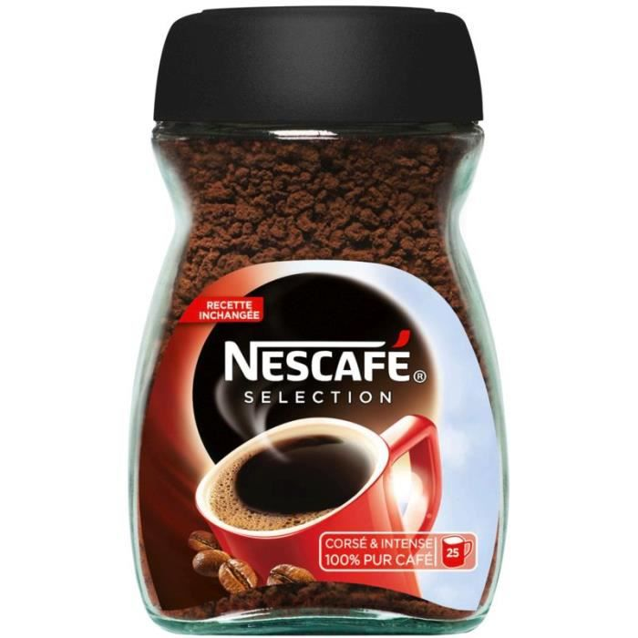 nescaf caf instantann 50g achat vente caf soluble cafe instantane nescafe 50g soldes. Black Bedroom Furniture Sets. Home Design Ideas