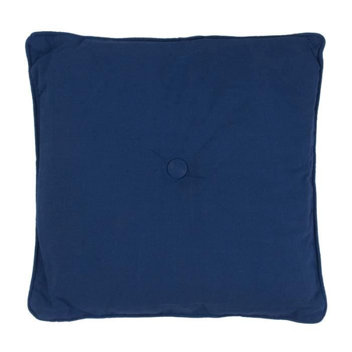 jazz coussin 40x40 bleu marine 100 coton achat vente coussin cdiscount. Black Bedroom Furniture Sets. Home Design Ideas