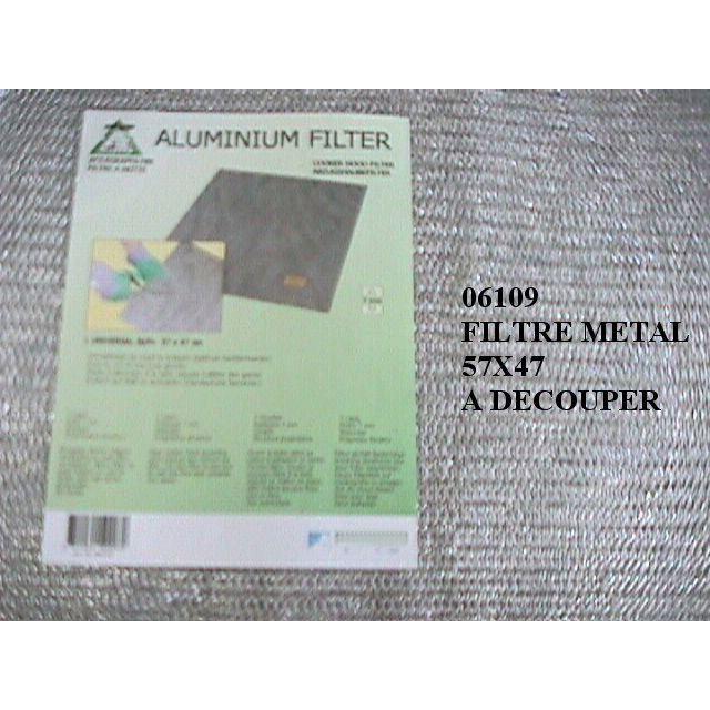 FILTRE POUR HOTTE 06109. FILTRE METAL UNIVERSEL DECOUPER 570X470