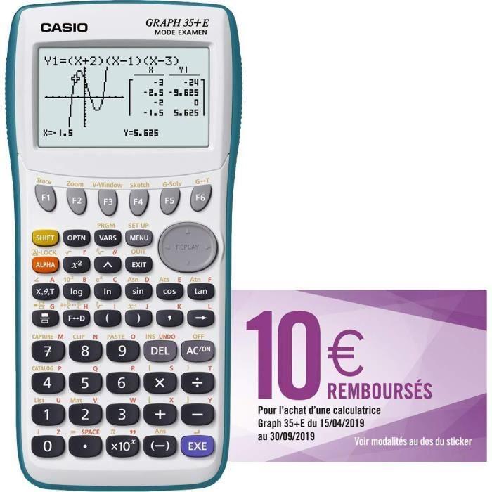Casio Graph 35 E Calculatrice Graphique Usb Avec Mode Examen Achat Vente Calculatrice Casio Graph 35 E Cdiscount
