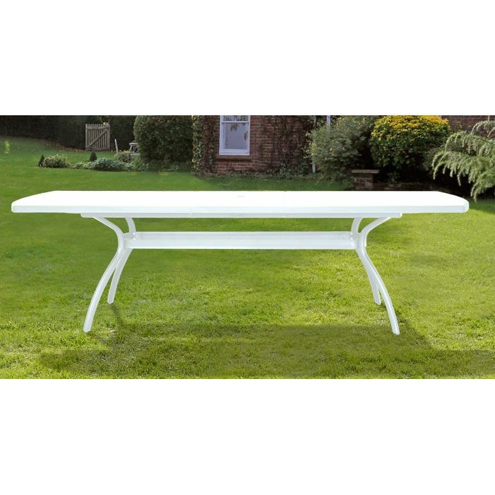 Table extensible blanche 210 / 265 x 108 cm - Achat / Vente table de ...