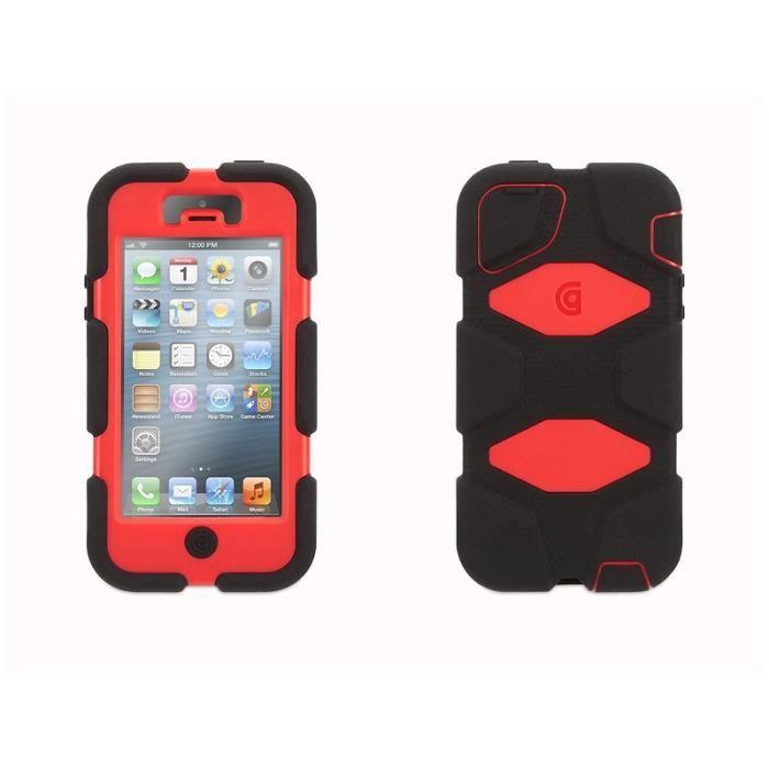 coque griffin iphone 4 4s survivor noir rouge