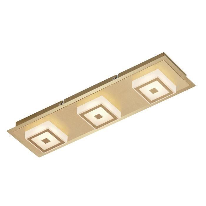APPLIQUE  Applique design rétro 3 lumières Led METALLO dorée