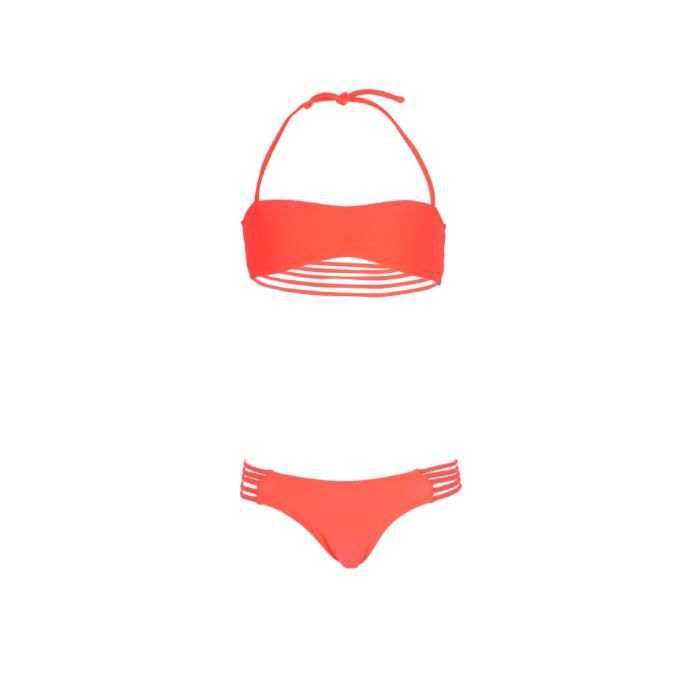 mon mini teenie bikini maillot de bain fille 2 pi ces corail fluo orange achat vente. Black Bedroom Furniture Sets. Home Design Ideas