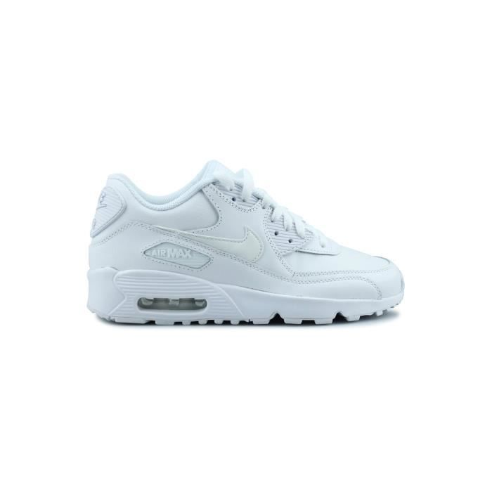 new styles 81f33 4cccd BASKET NIKE Baskets Air Max 90 - Enfant - Blanc
