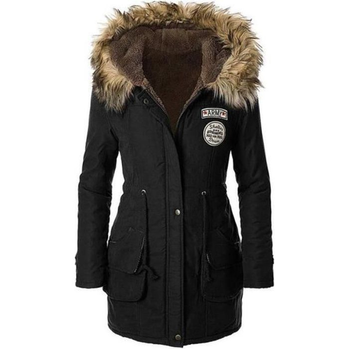 MANTEAU - CABAN Manteau femme d hiver Outdoor Parka SIMPLE FLAVOR f2d051cc0f18
