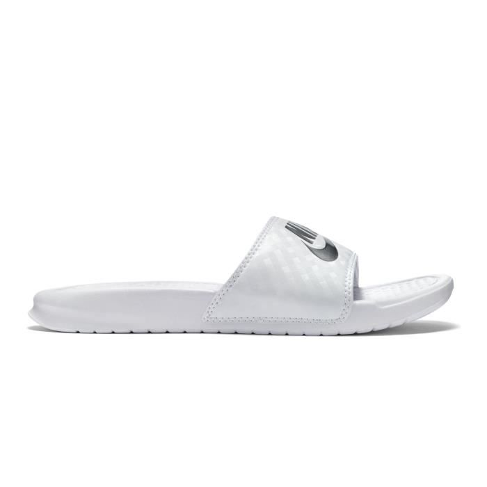 4d2d372bc90 Sandales Nike Benassi Just Do It Blanc Femme Blanc Blanc - Achat ...