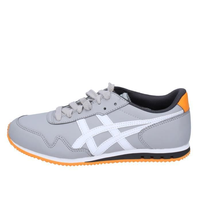 ONITSUKA TIGER by ASICS Chaussures Femme Baskets Cuir Gris AH828