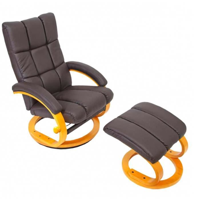 Fauteuil inclinable relax avec repose pieds col achat - Fauteuil relaxation pivotant avec repose pieds ...