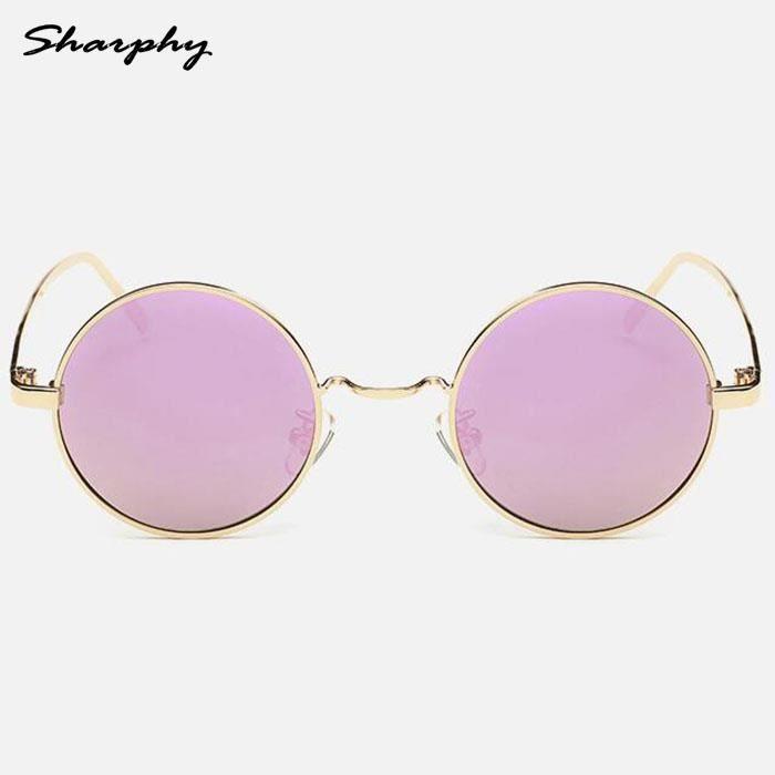 SHARPHY Lunettes de soleil Femme Doré et rose