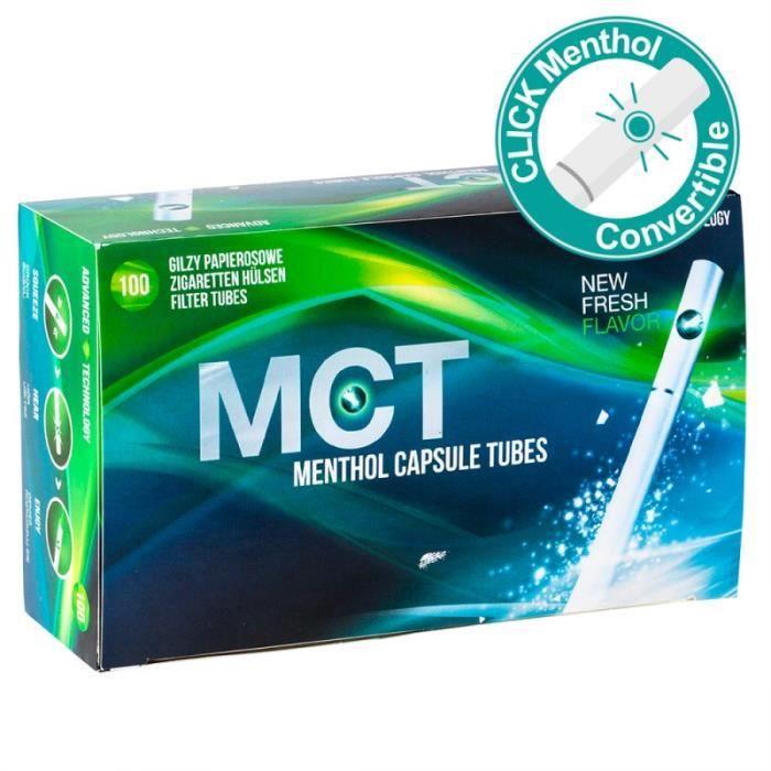 TUBE À CIGARETTE Tubes cigarettes menthol - MCT - Menthol Capsule T