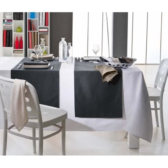spirale 5 couleurs nappe carr e 150x150 cru achat vente nappe de table cdiscount. Black Bedroom Furniture Sets. Home Design Ideas