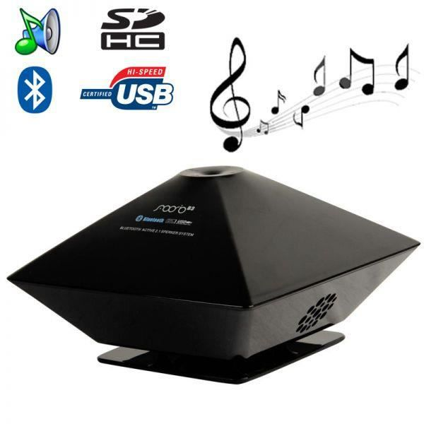enceinte bluetooth portable lecteur cl usb jack 3 5 carte sd noir enceintes bluetooth avis. Black Bedroom Furniture Sets. Home Design Ideas