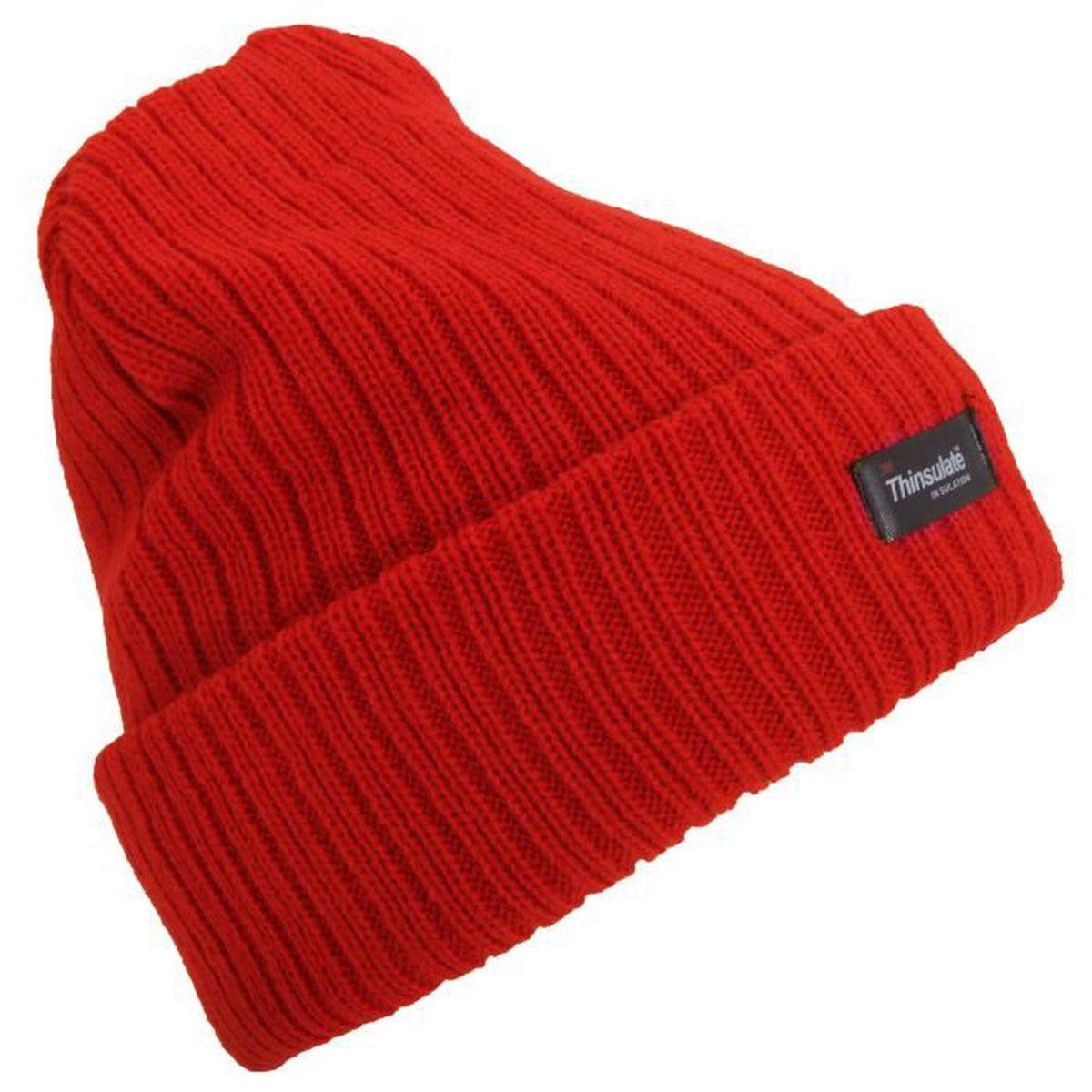 bonnet femme rouge