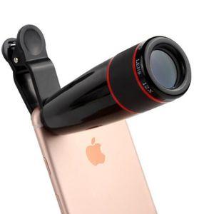 Objectif Pince 3 en 1 pour iPhone XS Smartphone Universel Macro Fisheye Grand Angle Metal Pochette Demontable