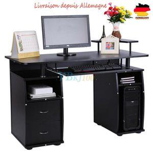 MEUBLE INFORMATIQUE Bureau pour ordinateur table meuble PC Table de tr