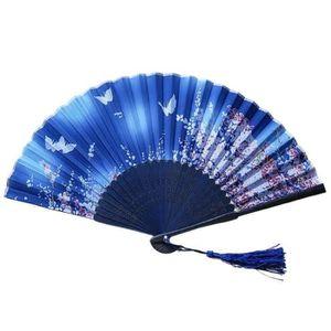 VENTILATEUR Ventilateur pliable en os de bambou, ventilateur p
