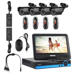 CAMÉRA DE SURVEILLANCE 4 canaux DVR 960P CCTV système de sécurité Kit 4 A