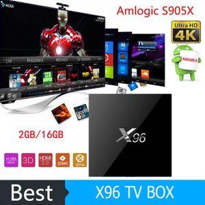BOX MULTIMEDIA Amlogic X96 S905X Android 6.0 TV BOX Quad Core 2 G