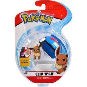 FIGURINE - PERSONNAGE POKEMON - Poké Ball et sa figurine 5 cm Évoli