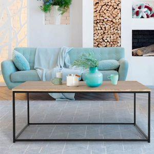 TABLE BASSE Table basse DETROIT design industriel bois et méta