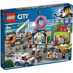 ASSEMBLAGE CONSTRUCTION LEGO® City 60233 L'ouverture du magasin de donuts