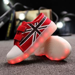 7 Couleur USB LED charge enfant chaussures toil...