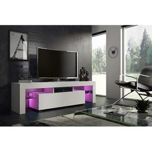 meuble tv led design achat vente meuble tv led design pas cher cdiscount. Black Bedroom Furniture Sets. Home Design Ideas